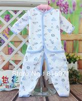Free shipping 100% cotton soft baby clothing fashion small children underwear set baby garment wholesale 016
