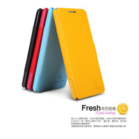 Original Nillkin Fresh Series Leather Case Cover For Lenovo P780 With Touch Pen Gift, Free Shipping