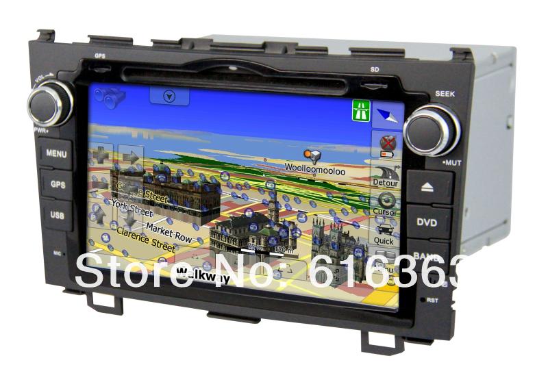 car audio dvd player with radio tv and gps navigation special for Honda CRV(China (Mainland))