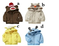 Girl Coat thick fleece multicolor animal modelling cardigan jacket coat