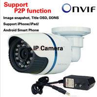 Support P2P function 1MP Mini Bullet Camera Full 720P HD  Outdoor IR Network IP Camera 2013 produtcs in China cctv camera Onvif