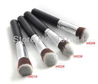 New Pro 1 pcs Black Kabuki Powder Brush Makeup Tool Flat Round Angled Tapered Brushes Cosmetic Blush Foundation Brush, Freeship