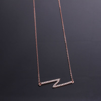 2013 New 12pcs/Lot Wholesale Fashion Jewelry Top-quality Alloy Chain Sweater Letter Necklace For Women With Pave Rhinestone