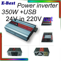350W inverter DC AC car power inverter modified 350W 24V in 220V out  with USB output  DY-8105 Al-Mg alloy shell