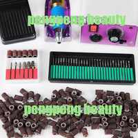 PRO Electric Nail Drill Art File 36 Bits Sanding Bands Acrylic Kit Manicure 501