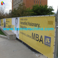[Banners China] Ad Banner Sign with Full Color vinyl Printing, Road Banner and Outdoor Banner with Grommets for Fence Use