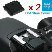 2 x Hot Shoe Cover Cap Protector for DSLR Camera Canon, Nikon, Pentax, Olympus, Fuji, Hasselblad, Mamiya, Panasonic - hotshoe