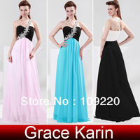 Free Shipping GK Stock One shoulder Chiffon Ball Gown Evening Prom Party Dress 8 Size US 2~16 CL4447