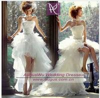 AWB3118 Sexy Latest Designer Front Short Long Back Wedding Party Dress