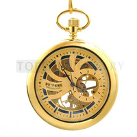 Topearl Jewelry Mechanical Hand Wind Copper Pocket Watch LPW788