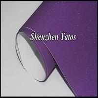 Purple Diamond Glitter Vinyl Sheet Sanding Pearl Vinyl Powder / 10Colors Options