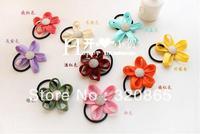 free shipping hot selling Zipper teeth edge flower hair bands a golden detain rope rope fashion headdress flower 50pcs/lot