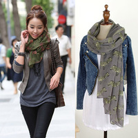 Cute Zebra Animal Printing Scarf Voile Shawl For Girls And Ladis,2013 Brand Style,110*180cm