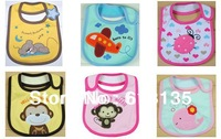 Baby Infant Toddler Cotton Bibs 3 Layers Waterproof Cute Cartoon Boy Girl