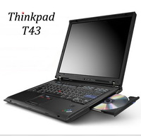 used laptops T43 14 inch pentium M 1.73G 2G/80G Wifi DVD-rom ultrathin