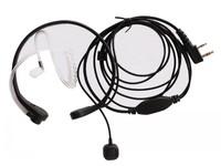 freehipping Tactical Throat Mic headsets/earpiece  For KENWOOD TK-3107 TK-2207 baofeng uv-5r wouxun quansheng two way radio