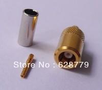 SMB female crimp connector goldplate RG316 RG174