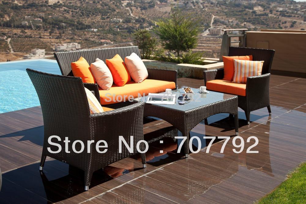 Classic Style Sofa outdoor rattan furniture sofa set(China (Mainland))