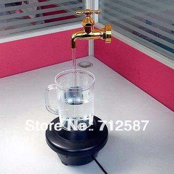 Magic Fountain Faucet Color Change LED Magic Faucet Mug Night Light Barware  free shipping #8707