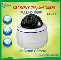 SALES! Full HD 1/3'' Sony CMOS Water&Vandal-proof Dome 1080p Outdoor Camera Infrared HD SDI CCTV Surveillance Camera