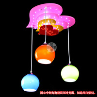 Princess heart pendant light cartoon lighting child lamps girl child lamp bedroom lamp remote control lamp 8067