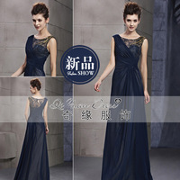 Vintage slim design long evening dress 2013 slit neckline s cl01306