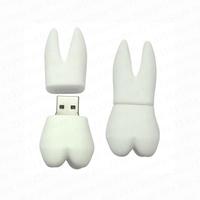 Rubber teeth model usb 2.0 memory flash stick pen drive 4GB 8GB 16GB 32GB 64GB (Free Shipping)