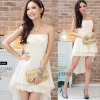 Short tube top design elegant handmade rose after dovetail wedding dress skirt beige female
