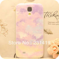 Free shipping Colored drawing small fresh purple protective case  for SAMSUNG   i9500 galaxy s4  phone case