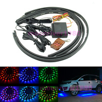 Free Shipping 7 Colors LED RGB Underbody Under Car Strip Flash Light Lamp With Remote Control