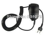 10 x PTT 2 PIN Handheld Speaker Mic for ICOM IC-V8/V82 STANDARD HORIZON Cobra Vertex Maxon Uniden Black IC-25 Accessories J0268A