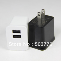 5V 2.1A Dual USB Travel Charger For Mobile Phone With USA Plug