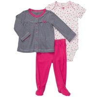 Retail,Original Carters Baby Girls Set, Butterfly and Striped Model( Shirt+Bodysuit+Pants) 3pcs Set, Free Shipping, IN STOCK