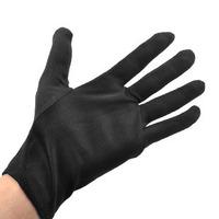 10 pairs Polyester cotton black five fingers gloves nylon terylene work gloves