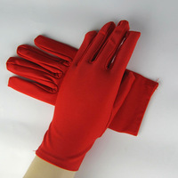 10 pairs Ultra elastic tight fitting gloves solid color red wedding gloves sunscreen