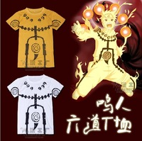 Free shipping Retail 1PCS Cosplay naruto t-shirt short-sleeve clothes outerwear 2 full