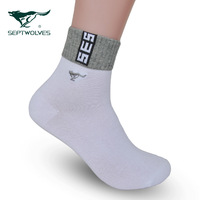 5pcs free shipping Septwolves male socks cotton socks summer thin anti-odor sports socks solid color socks