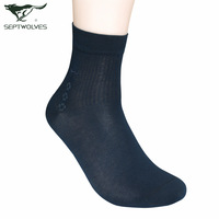 7pcs free shipping Septwolves socks male socks Men spring and summer knee-high thin breathable business casual socks