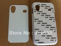 black white sublimation cover case for samsung galaxy Ace S5830 with metal aluminium plates and double glue free shipping