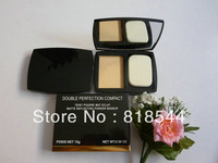 New DOUBLE PERFECTION COMPACT TEINT POUDRE MATECLAT MATTE REFLECTING POWDER MADEUP 15g (1 pcs/lot)
