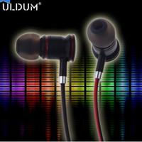 ULDUM new product skull metal shell in-ear headphone with mic original stereo nice sound effect earphone