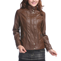 Free shipping larger women leather jacket 2013 autumn female genuine leather jacket sheepskin women leather coat M-XXXXL-6XL