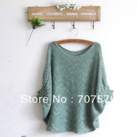 2013 female mm plus size loose batwing sleeve sweater female outerwear