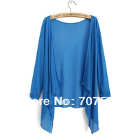 2013 air conditioning shirt female sunscreen shirt female sweater outerwear no button cape female cardigan