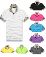 free shipping 2013 New fashion men's short polo shirt casual brand polo T-shirt polo t shirt /t-shirts CM025