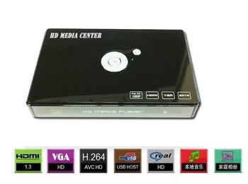 "Full HD 1920*1080P Multimedia 2.5"" hdd media cinema player 3D USB2.0 OTG/Host HDMI YPBPR A/V VGA OUT MKV VOB MPEG VC-1 DTS"