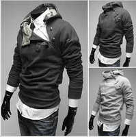 Free Shipping  NEW Hot High Collar Men's Jackets ,Men's Sweatshirt,Dust Coat ,Hoodies Clothes,cotton wholesale