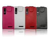 4 Color High quality leather case for motorola XT883,Droomoon 100%Real cowhide cover,Free shipping