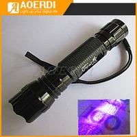 Ultrafire 501b ultraviolet money detector flashlight 5w violet scorpion light neon fiber
