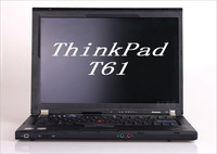 Used laptop T61 14-inch Widescreen dual-core T8100 2.1G  2G/160G DVD rom wifi Super Netbooks
